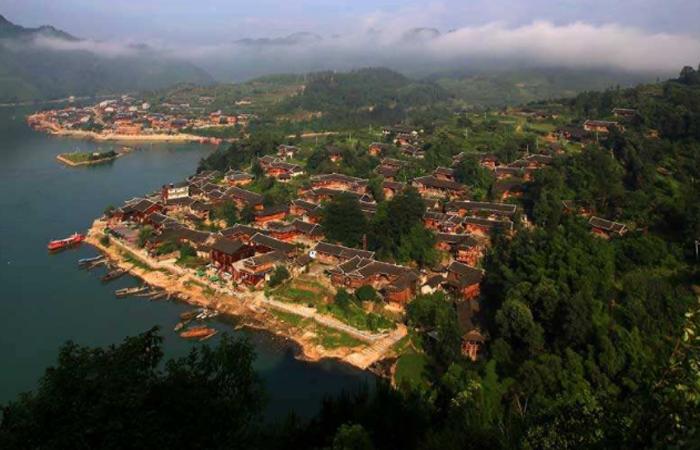 重庆苗族河湾山寨:中国最美土家山寨