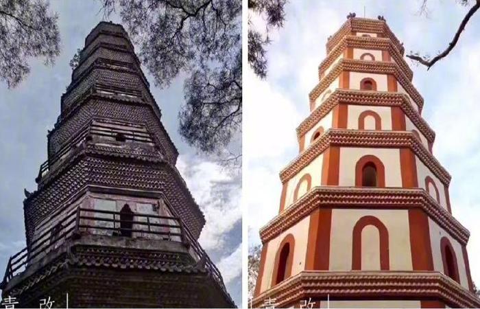 """广东文物古建筑""""双塔""""修缮引争议"""