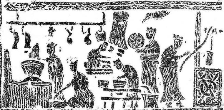 古代用灶具进行熬盐