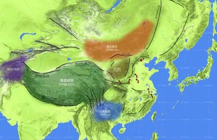 看山川地形图,了解四大古都为何成为首都?