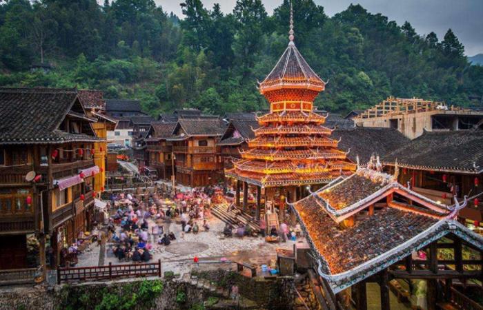 侗族的民俗文化中心——风景秀丽的肇兴侗寨
