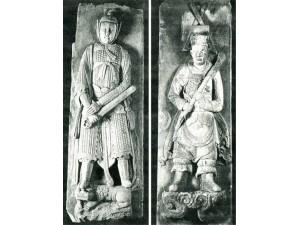人物及花瓶砖雕