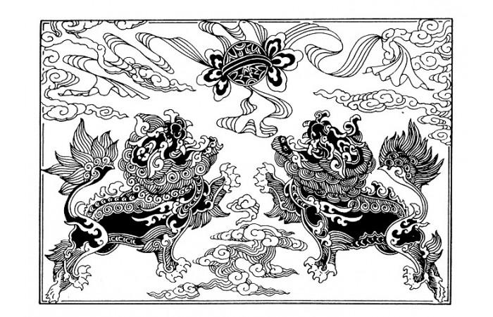 清朝时期纹样设计图案(十八)