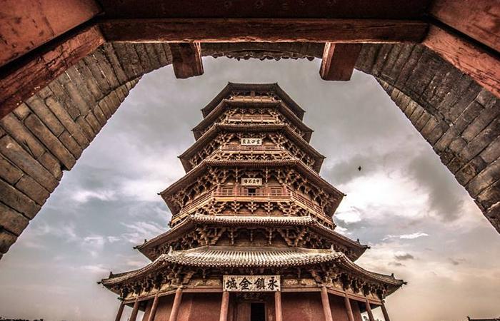 """中国建筑""""世界最高木塔""""释迦塔,无钉屹立千年!"""