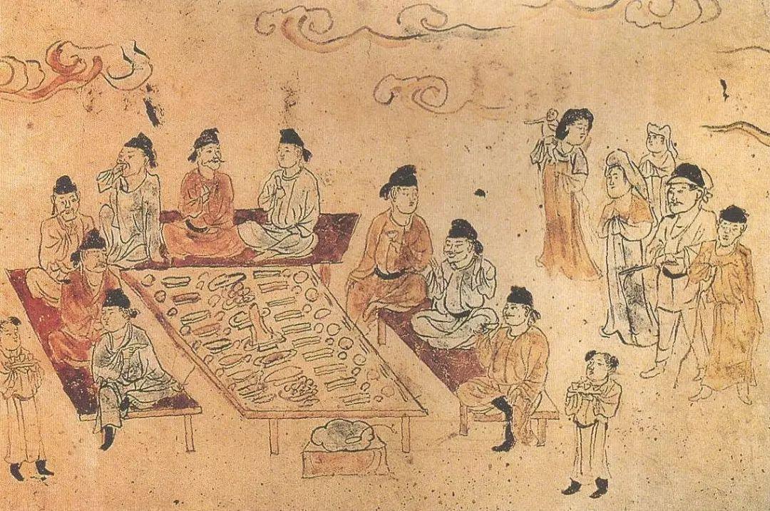 宴饮图,中唐前期
