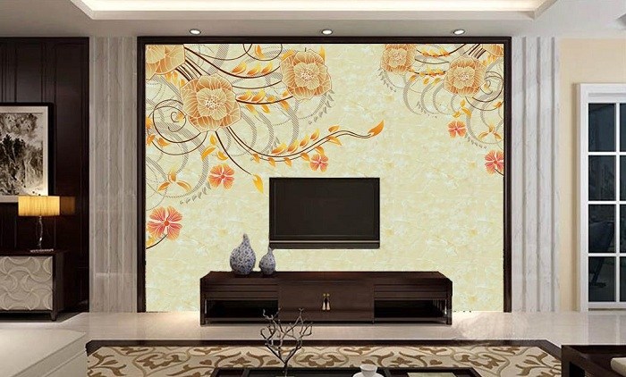 壁纸背景墙效果图