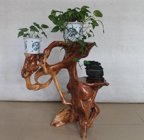 根雕花架制作技法