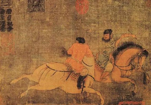 《双骑图》唐韦偃