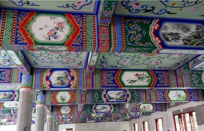 中式古建筑彩绘图案欣赏