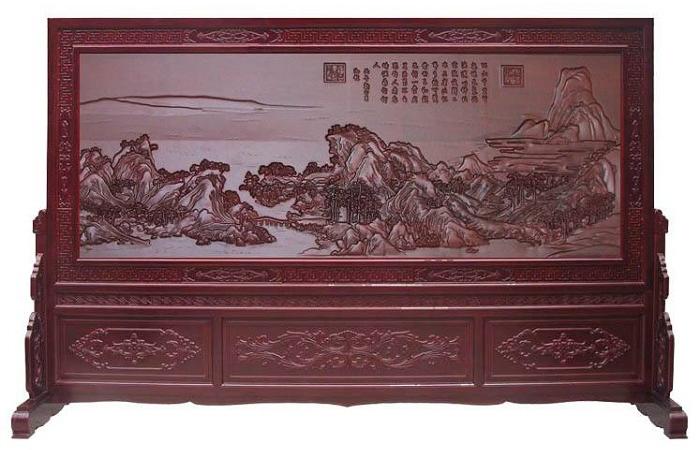 中式家居如何选购木雕屏风?