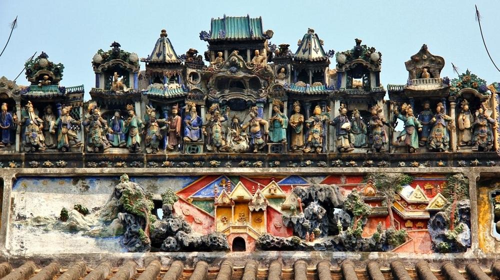 广州陈家祠屋顶装饰