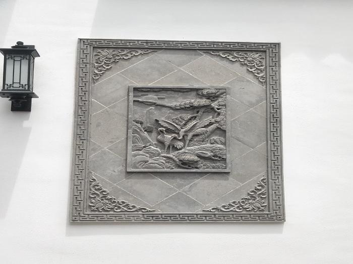 松鹤延年-- 苏徽园林古建砖雕厂