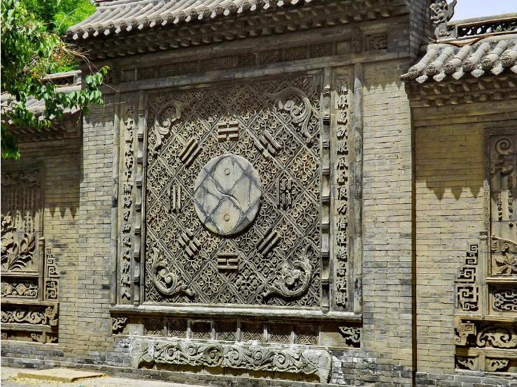 中国古建筑砖雕影壁