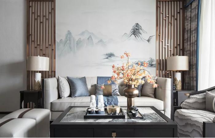 最美新中式+高级烟灰蓝设计,再现东方雅韵之美!