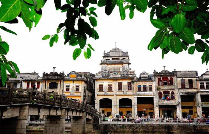 开平赤坎古镇:300多年的历史,民国中西合璧建筑!