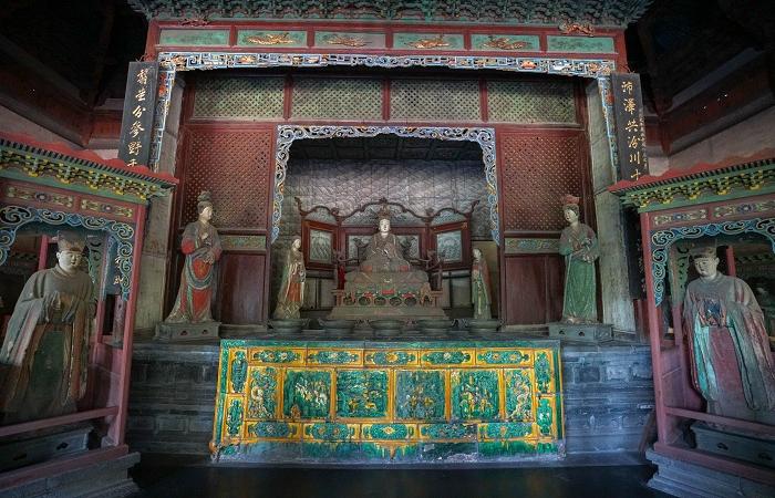 宋代建筑晋祠圣母殿的特点