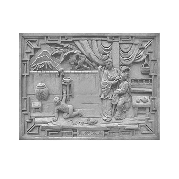 仿古砖雕中式挂件_古建砖雕装饰配件_砖雕图片_二十四孝之乳如不怠-- 河北晟秦古建园林工程有限公司