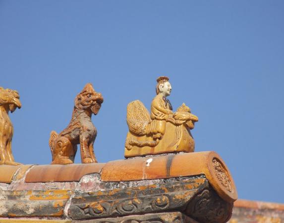 古建筑构件骑凤仙人