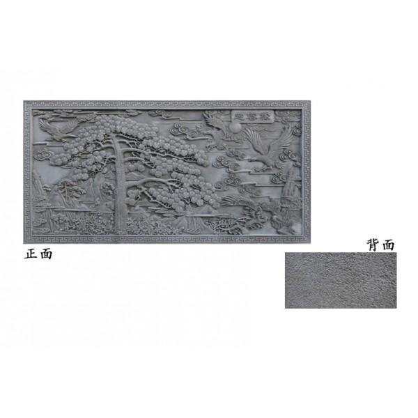 仿古砖雕(迎客松)_古建砖雕影壁图片