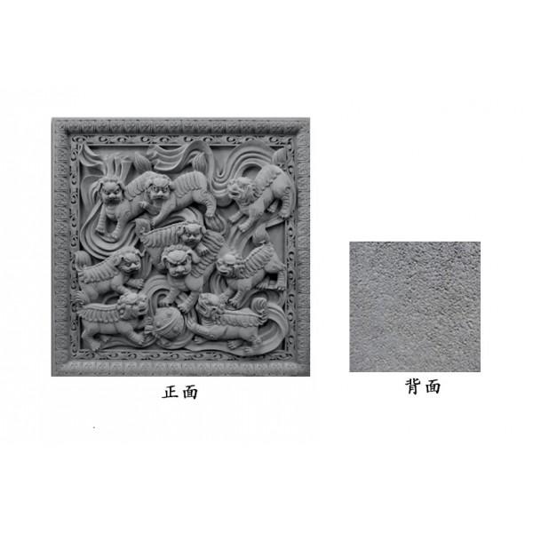 仿古中式影壁墙装饰砖雕