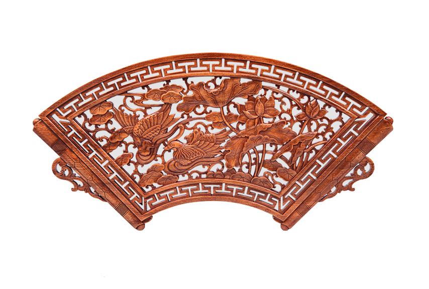 中式仿古扇形挂件--  浙江汉农建设有限公司