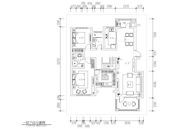 [山东]铭筑-临沂谢恒煦住宅CAD施工图+效果图