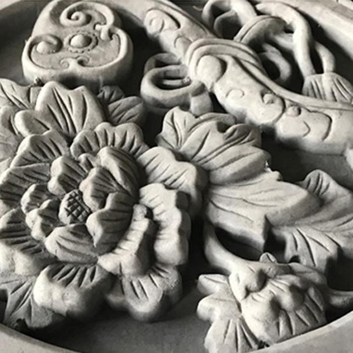 四合院仿古砖雕_牡丹富贵砖雕_吉祥如意砖雕--杭州梵华园林古建筑工程有限公司