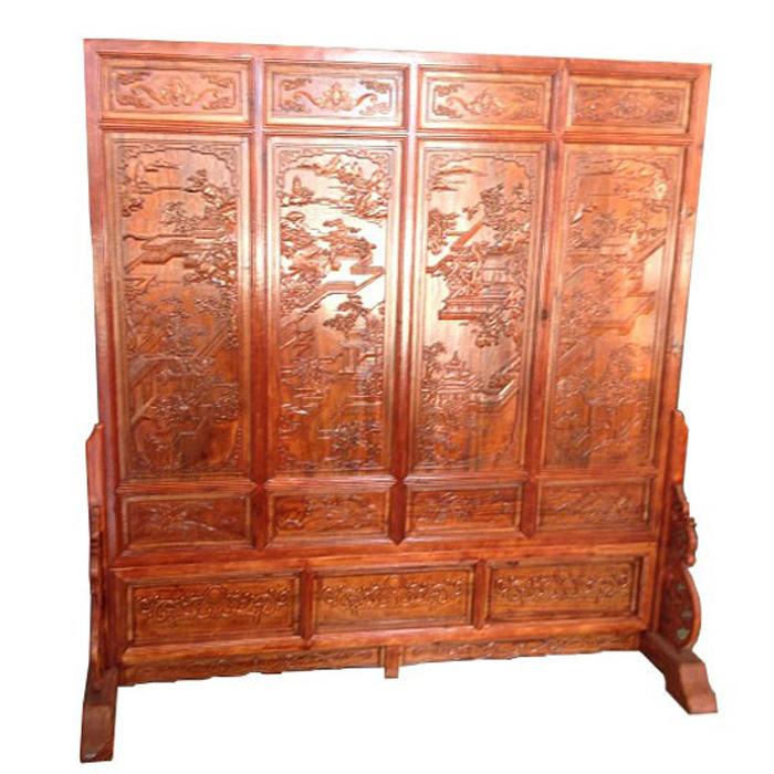 中式古典立式屏风_实木木雕屏风价格