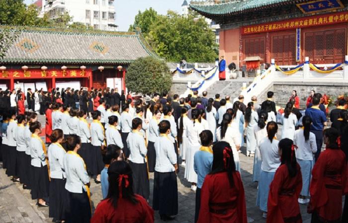 2019郑州文庙举办祭孔大典 弘扬中华传统文化