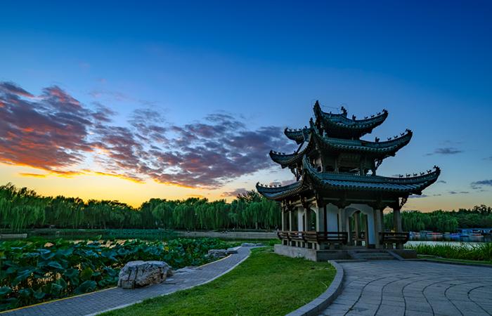 清代建筑陶然亭——中国的四大历史名亭之一