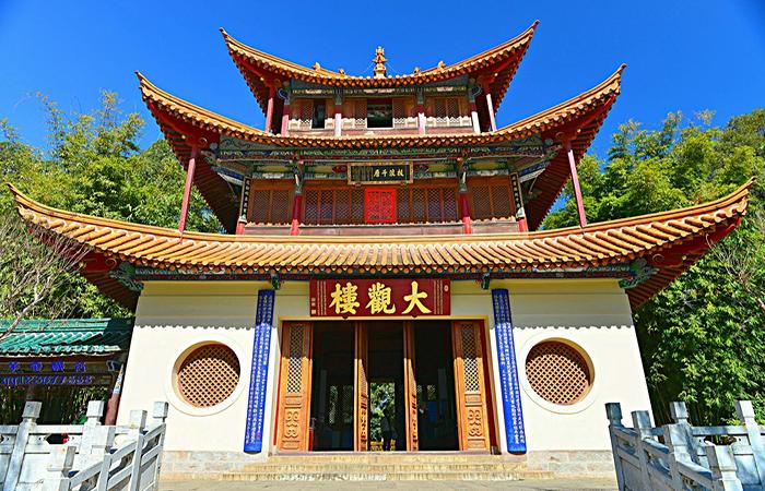 云南古建筑大观楼,中国十大名楼之一!