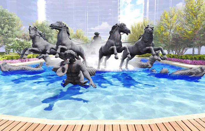 安孟-内蒙古京汉天玺住宅区景观设计