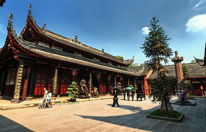 成都古建筑文殊院——中国长江上下游四大禅林之首
