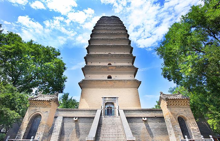 西安古建筑小雁塔:唐长安城保留至今的重要标志