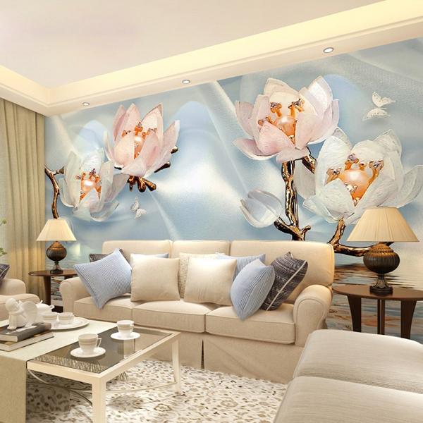 简约现代无缝壁纸客厅沙发背景墙纸壁布大型花卉壁画   价格按平方计算-- 网店展示-古建中国