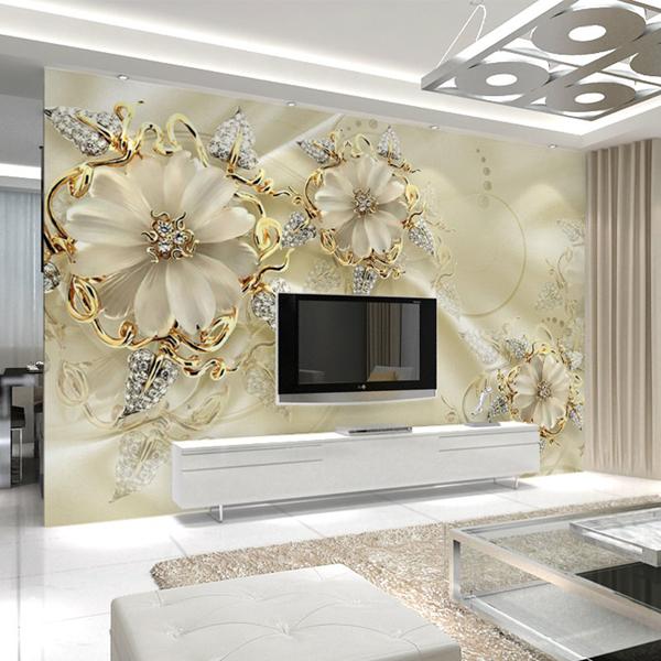 客厅电视背景墙壁纸_无缝墙布大型壁画_现代3d无纺布墙纸-- 网店展示-古建中国