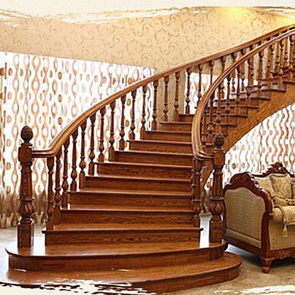 中式实木楼梯扶手_楼梯踏步_阳台飘窗栏杆护栏