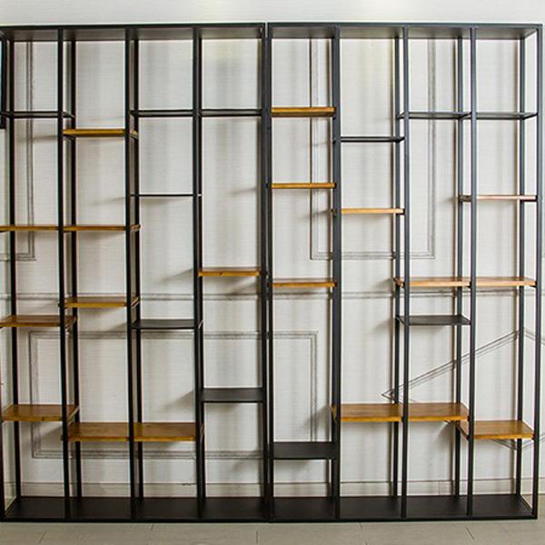 铁艺镂空室内屏风创意客厅玄关置物架隔断挡板装饰