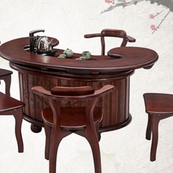 中式橡木多规格功夫实木茶桌椅组合 仿古家具茶桌茶台--网店展示-古建中国