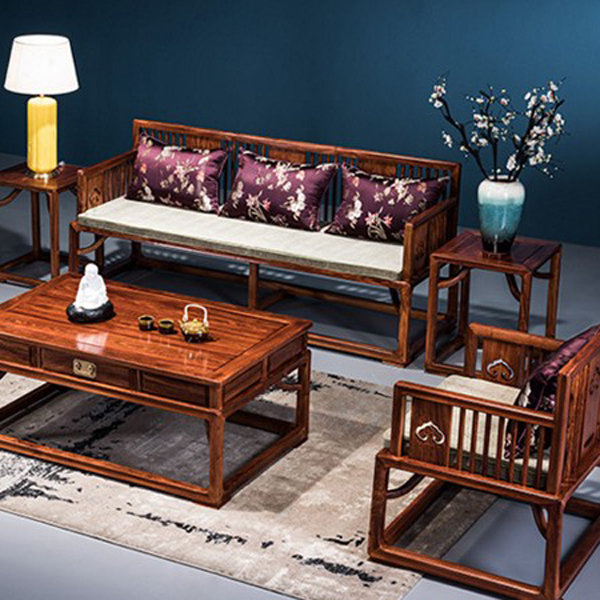 国标花梨属刺猬紫檀实木组合沙发现代新中明式家具