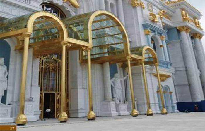 客户案例-美国赌场铜装饰