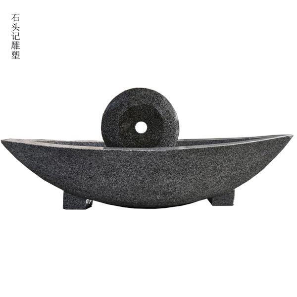 供应汉白玉石材药碾子 各种规格石头碾子现货零售