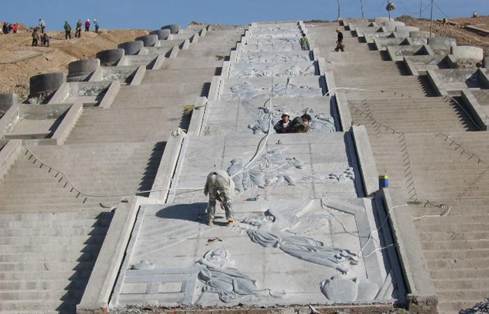 阳泉龙拄与北山公园800平米浮雕