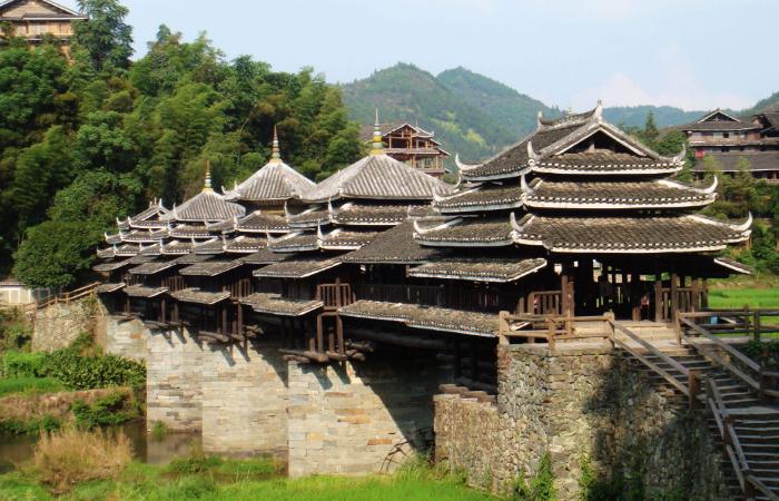 广西程阳风雨桥——中国木建筑中的艺术珍品