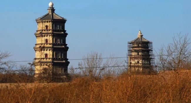 河北古建筑涿州双塔——千年的历史风云