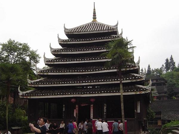 侗族木构建筑技艺的代表作——马胖鼓楼