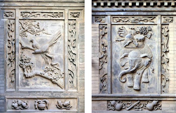 动植物砖雕