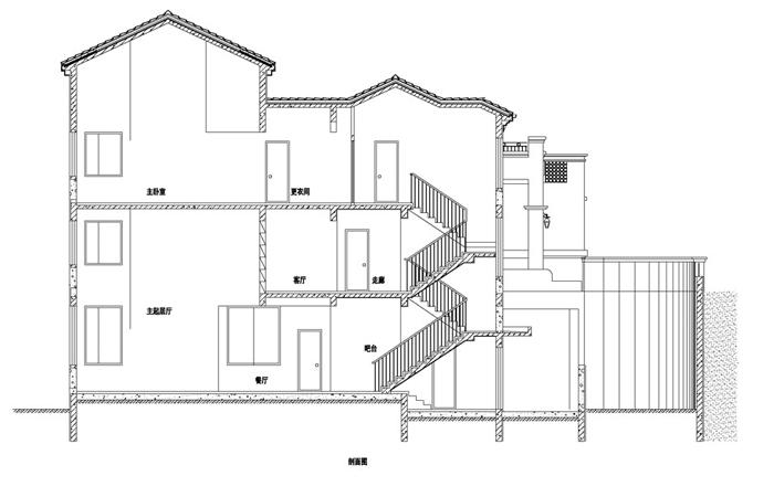 中式与西式结合风格别墅