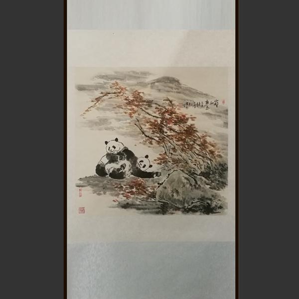 熊猫字画_熊猫字画价格多少钱--网店展示-古建中国