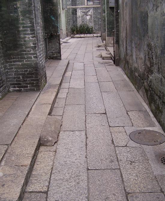 东华里花港台石板小路